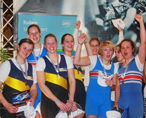 Das Bremer Frauenteam beim Jubeln!