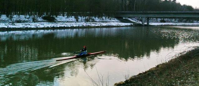 Auf dem Kanal in Uelzen