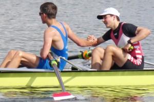 Finale erreicht - Jannes und Nici freuen sich über ein gelungenes Rennen